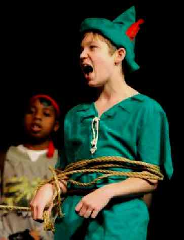 Kids let loose in ArtReach's A Christmas Peter Pan!