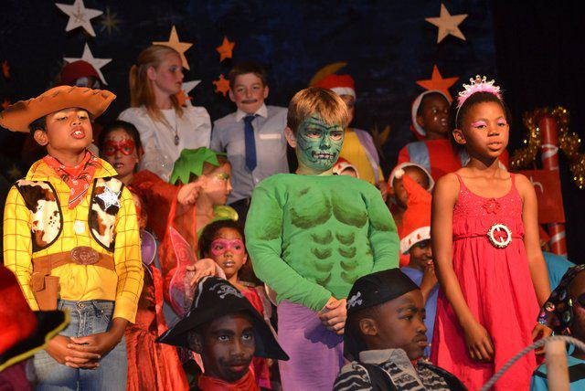 Kids dress up as their favorite toys!  A Christmas Peter Pan!
