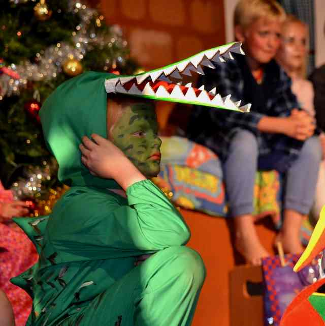 Crocodile is a great part for a shy kid!  A Christmas Peter Pan!