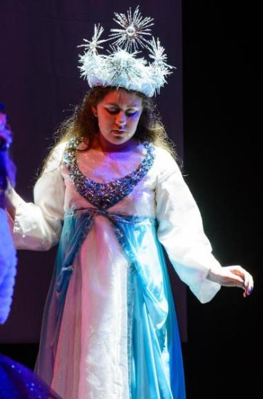 The Blue Fairy in school play Pinocchio