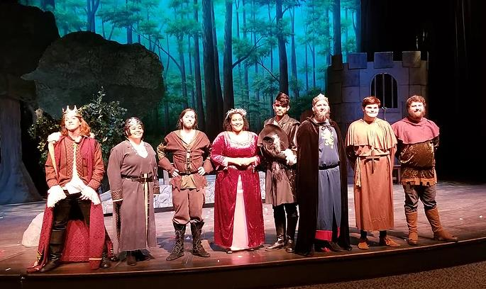 Cast of College Play Robin Hood
