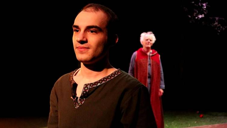 One act play for students, Arthus and Merlin