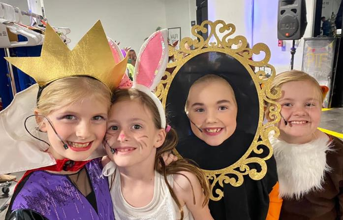 Kids performing Snow White play