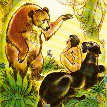 Baloo teaches Mowgli