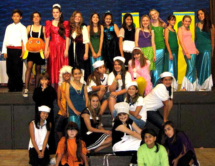 The Little Mermaid Large Cast Kids Play