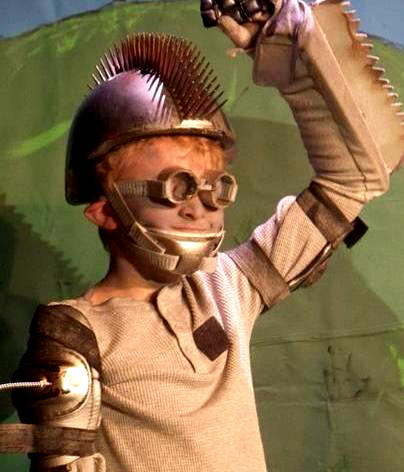 Creative scripts give kids lots of ideas!  Here the Tin Man has a most unusual take on the costume!