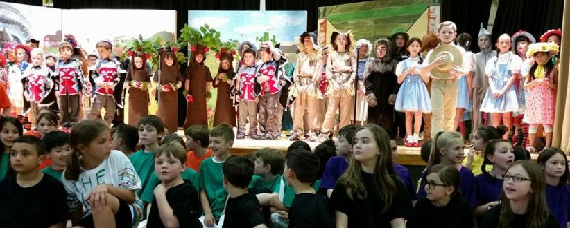 Children performing The Wizard of Oz play