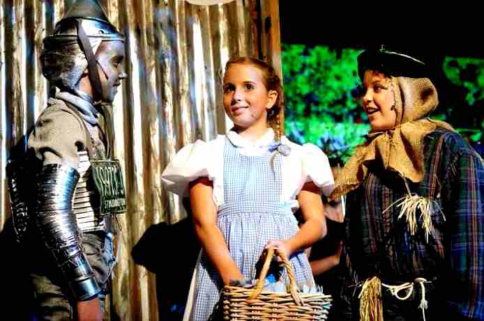 Dorothy and her friends in Oz!  The Wizard of Oz!